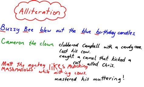 alliteration poem template alliteration exles sentences ma