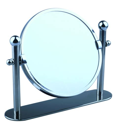 large free standing bathroom mirror swivel chrome magnifying free standing pedestal cosmetic