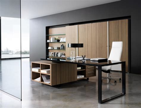 classy working room design with modern office desk and