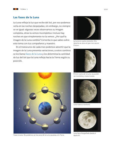 las fases de la luna ciencias naturales 3ro bloque 5 apoyo ciencias naturales tercer grado 2016 2017 online