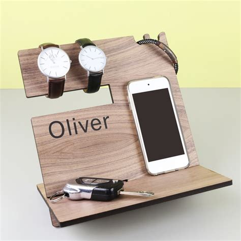 men s personalised wooden accessory stand lisa angel gifts