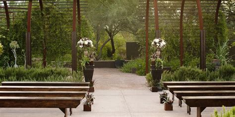 Desert Botanical Garden Wedding by Herb Garden At Desert Botanical Garden Weddings