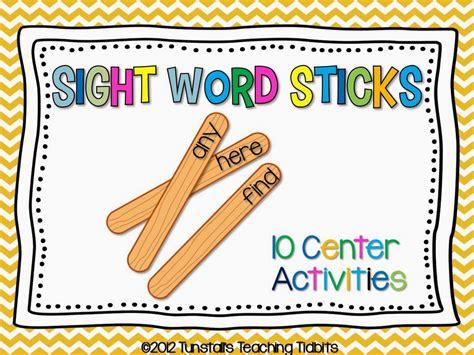 printable literacy games making sight words stick tunstall s teaching tidbits
