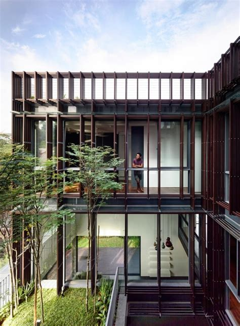 style house plans with interior courtyard open tropical home with interior courtyard and wood features