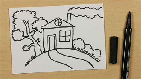doodlebug house on how to draw a house on a hill easy doodle for