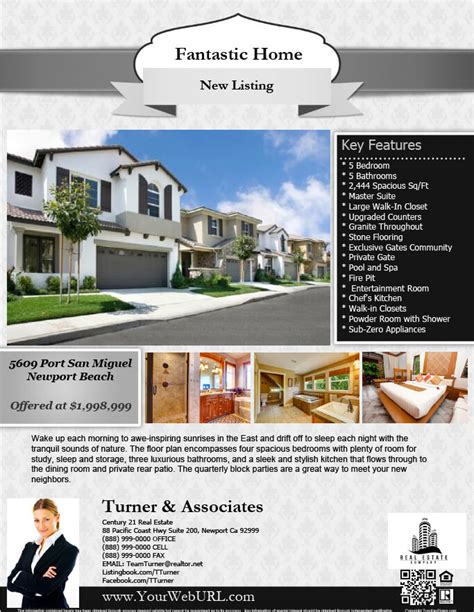 real estate listing flyer template real estate flyers pdf templates turnkey flyers