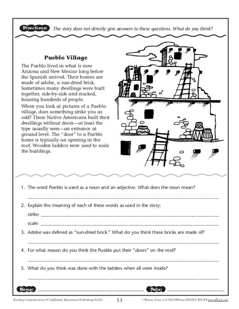 reading comprehension test in spanish spanish comprehension worksheets lesupercoin printables