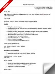 Exles Of Nursing Student Resumes by Nursing Student Resume Sle