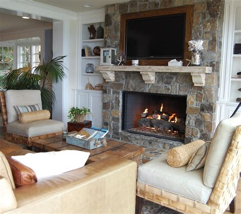 fireplace ideas with stone living room beach with