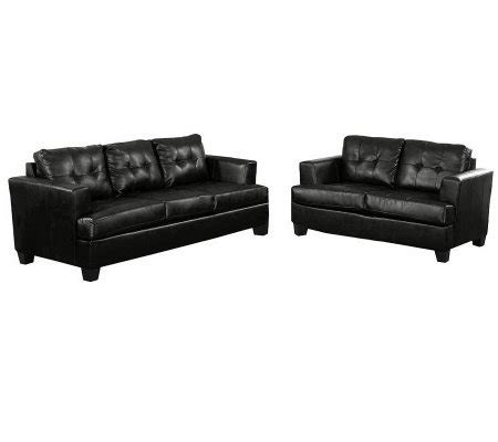 bonded leather sofa set bonded leather sofa set by acme furniture h356082 qvc