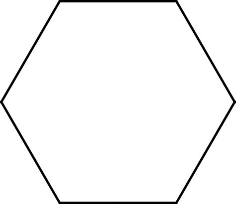 hexagons templates large hexagon for pattern block set clipart etc