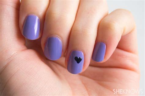 nail art tip   create  perfect heart sheknows