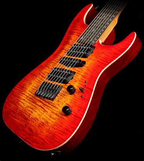 9 string fanned fret lipe virtuoso 7 fanned fret curly maple seven string