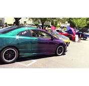 HONDA CIVIC WITH BLUE &amp PURPLE BOWLING BALL PAINT  YouTube