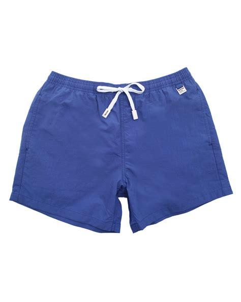 swim trunks pantone dazzling blue swim shorts in blue for lyst