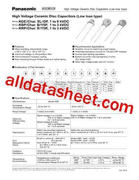 103 capacitor data sheet eck d3a103kbp データシート pdf panasonic semiconductor