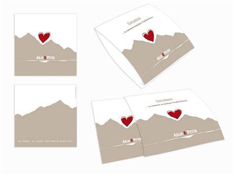 Hochzeitseinladung Berge by Einsteck Kuverts Berge Gipfel Bergfex