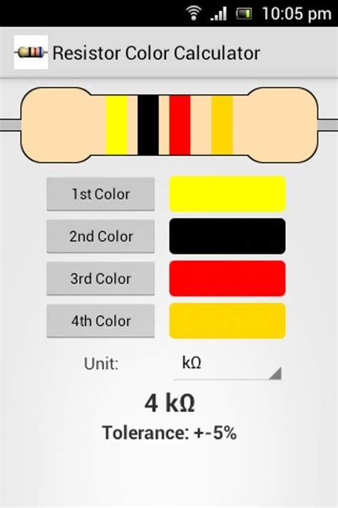 color calculator resistor color calculator for android apk