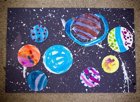 solar system arts and crafts for solar system craft for draw circles paint them cut