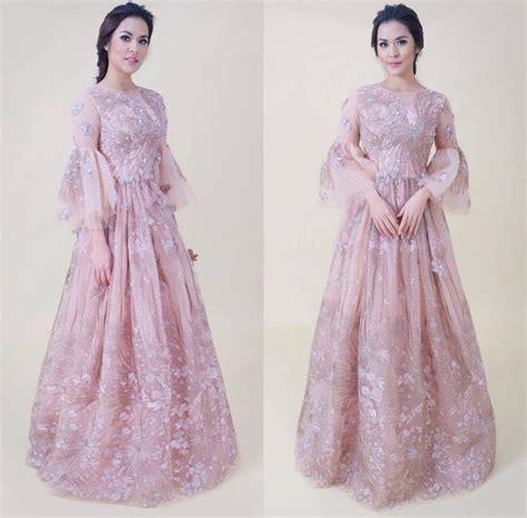 25 Ide Terbaik Gaun Renda 25 Ide Terbaik Gaun Model Dress Pesta Dusty Pink Adzkia Gamis Set Manisqu Dusty Pink