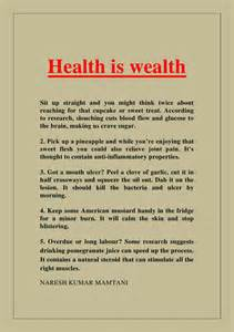 Health Is Wealth Essay by Health Is Wealth