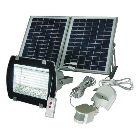 solar powered motion detector flood lights led solar flood light w remote motion sensor