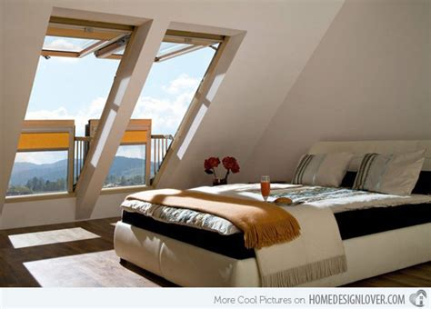 Interior Window Curtains 15 Attic Rooms Converted Into Simple Yet Elegant Bedrooms Home Design Lover