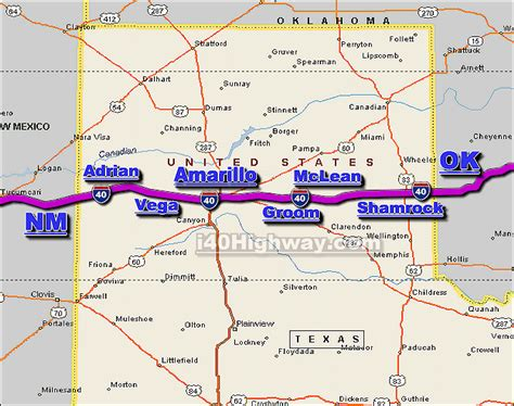 texas traffic map interstate 40 images