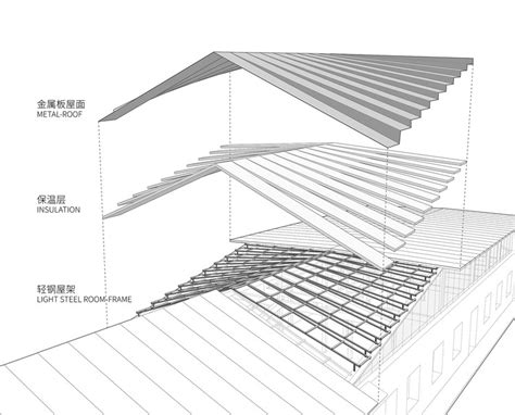 roof structure diagram studio of xu hongquan office project archdaily