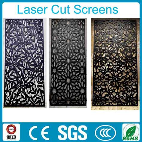 decorative black color wrought iron laser cut hanging room