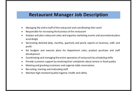 customer service manager description sle customer service manager description