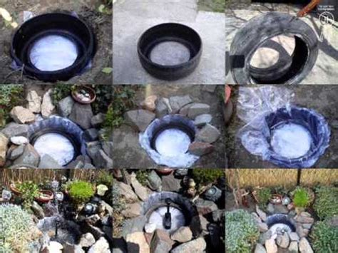 how to make a decorative pond from old tires youtube