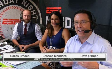 mark jackson menendez card worth jessica mendoza becomes first female mlb broadcaster on