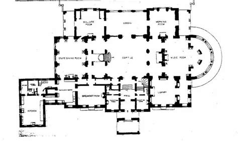 the breakers floor plan the breakers main floor plan gilded era mansion floor