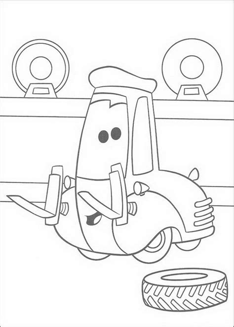 Cars Coloring Pages Coloringpages1001 Com Pixar Coloring Pages