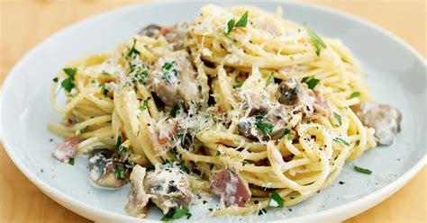 pasta recipes mushroom and pancetta spaghetti
