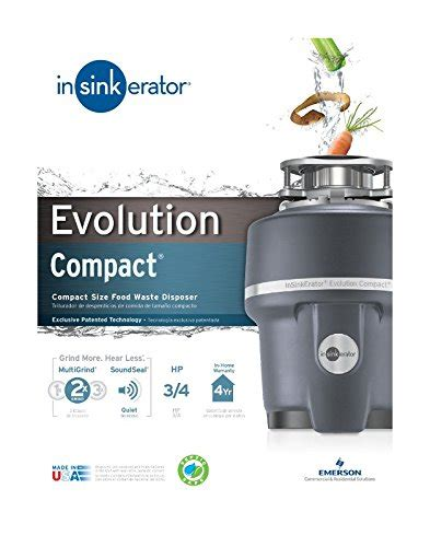 Compact Garbage Disposal Sink by Insinkerator Evolution Compact Garbage Disposal 3 4 Hp