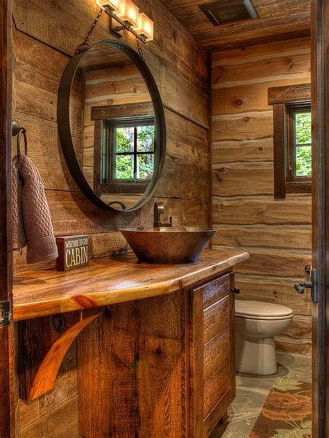 Cabin Bathrooms Ideas by Cabin Bathroom Houzz