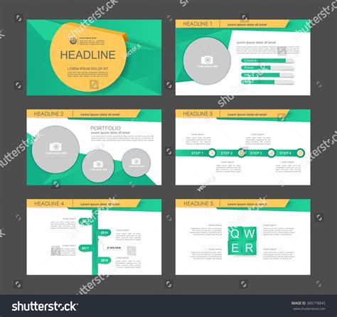 Set Of 9 Templates For set of 9 vector templates for presentation slides abstract