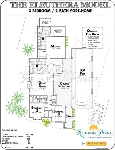 rv port home floor plans eleuthera by reunionpointe port home elevation rv ports