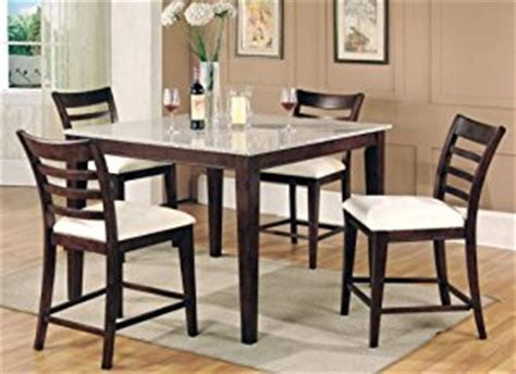 granite top dining table set amazon com bar height dining table collection granite top