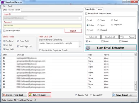 email yahoo india extract email ids from yahoo mail account within minutes