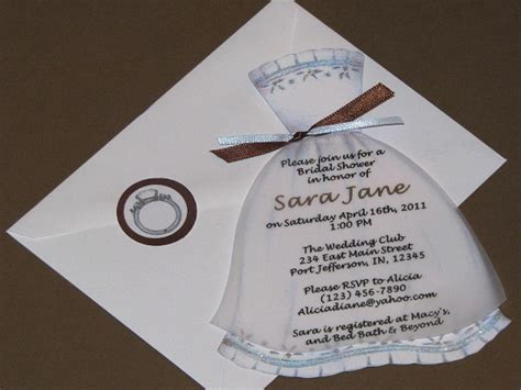 Handmade Bridal Shower Invitations - bridal shower invitations easyday