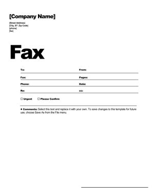 Fax cover sheet template   Free fax cover letter   8ws