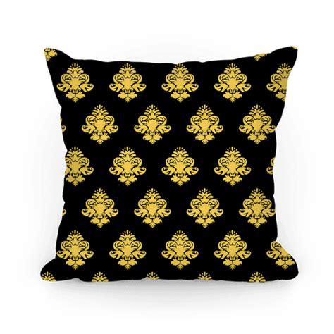 Parfum Posh Black Gold black gold pillow pattern pillows human