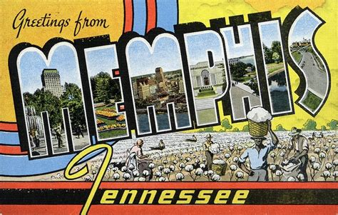 Greetings From Tn Postcards Vintage