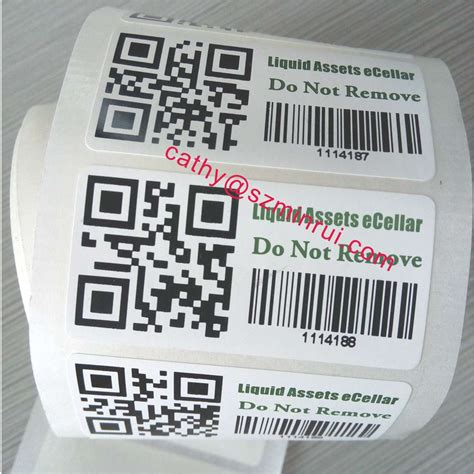 printable security stickers security ter proof barcode stickers label in roll