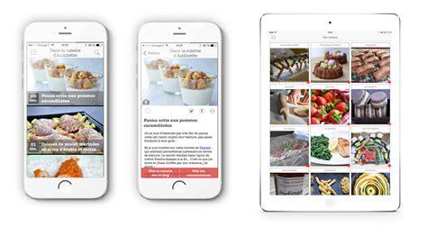 application recette de cuisine 123 mobile agence mobile r 233 alisation applications ios