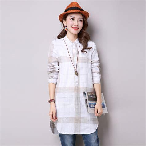 dress design long shirts women plaid long shirts 2017 autumn new fashion long