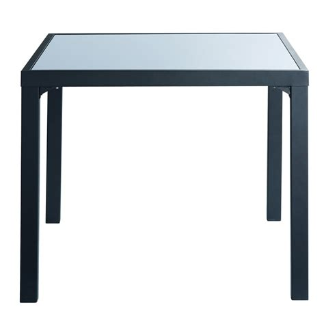 table de jardin carree table de jardin carr 233 e gris anthracite alicante maisons du monde
